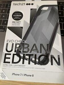 "tech21 T21-5719 Evo Check Urban EDITIONS Case Apple iPhone 7 8 4.7"" Smokey/Black"