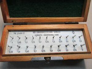 Prüfstifte Messstiftesatz 1 - 2 mm 21 Stk Genauigkeit 1Q Limbach #M307#