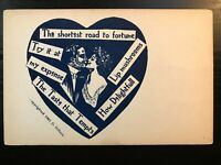 Vintage Postcard>1907>The Shortest Road to Fortune>Romance Card