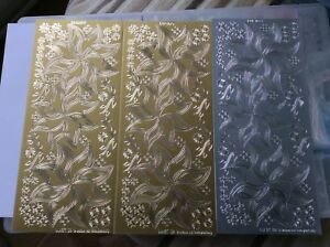 Kars LUCIDO LU03 Stencil peel offs. 2 gold and 1 silver.