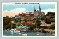 Georgetown Heights, Georgetown College, Vintage Washington DC Postcard