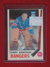 1969-70 NEW YORK RANGERS - TERRY SAWCHUK - Goalie - #189 - OPC - NCC