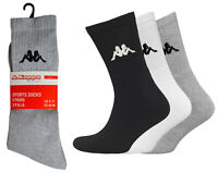Mens Kappa Socks 6 Pair Pack Crew Ankle Cotton Sports Sock Size UK 6-8 NEW