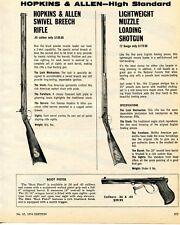 1974 Print Ad of Hopkins & Allen High Standard Rifle, Shotgun and Boot Pistol
