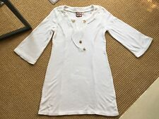 BNWOT Ladies Juicy Couture Towelling White Beach Dress Beach Size S