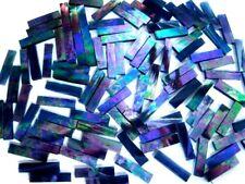 50 Iridised PURPLE Mosaic Border Tiles 25mm x 6mm Crafts