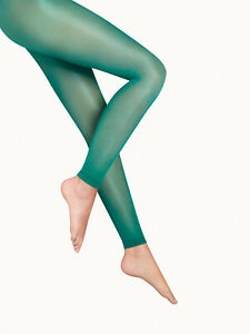 WOLFORD Satin Touch 20 DEN Leggings Size L Shimmering Look Knitted Selvage