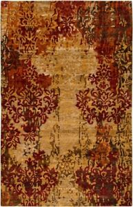 Surya Hand Knotted Wool Beige 2x3 Transitional Area Rug - Approx 2' x 3'