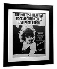 PAT BENATAR+Live From Earth+POSTER+AD+RARE ORIGINAL 1983+FRAMED+FAST GLOBAL SHIP