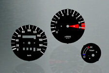 Honda XRV 750 africa twin RD04 black Tachoscheiben Tacho  Gauge dial speedo Set