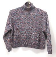 Elodie Women's Crop Sweater Knit Multi Color Size Large