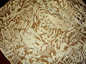 VINTAGE J.C. PENNEY JUNGLE SAFARI ANIMALS TIGERS ELEPHANTS (1) FULL FLAT SHEET