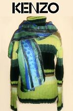 KENZO ~ striped Jumper + Kenzo scarf ~ size:  M / L  * AUTHENTIC