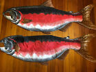 """VINTAGE RARE Red Belly Fish Hanging Cloth Decoration 56"""""""
