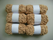 6 x 50g Warm Beige - Unlabelled - Bobble Novelty Knitting Yarn
