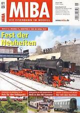 MIBA - Eisenbahn im Modell - Januar 2009 - Modell, Landschaft, Dioramen, Tipps