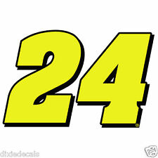 """2.5"""" x 3.8"""" Jeff Gordon Number 24 Window Decals Vinyl Stickers Hendrick Motor"""