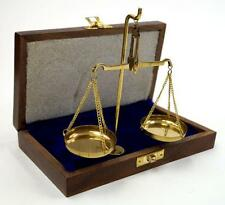 NAUTICAL Marine Navigation BRASS SCALE with STAND 20 gm WEIGHTS in VELVET BOX