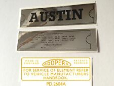 Austin Mini Mk1 Sticker Pack - ADO16 Landcrab Cambridge A40 A35 A30 Etc