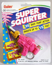 RARE VINTAGE 1993 SUPER SQUIRTER WATER SPACE GUN KEYCHAIN 15ft BOLEY NEW MOSC !
