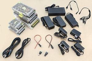 DC Power Supply 12V 0.5A 1A 2A 3A 5A 6A 8A 10A 12A 15A 20A 30A Plug Pigtail lot