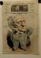 Caricature,Journal l'éclipse,M.Henri Monnier, Gill, 25 octobre 1874