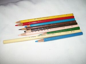 Lot of 9 Vintage Used Venus Paradise Color Pencils 1 3 7 10 11 14 15 20 27