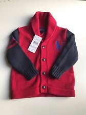 Polo Ralph Lauren Boys shawl collar  knitted Jumper size 2T