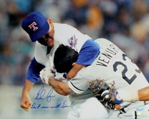 Nolan Ryan Autographed Ventura Fight 16x20 Photo Don't Mess With Texas TRISTAR