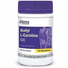 Acetyl L-carnitine 500mg 180 Capsules by Blooms