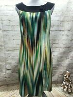 Kim Rogers Womens Size 10 Multicolor  Sheath Sleeveless Dress Career GUC