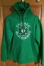 Men's Chicago BlackHawks Fanatics Brand St Patrick Day Irish Green Hoodie Medium