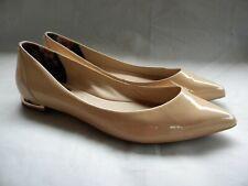 Ted Baker London  Izlar Nude Patent Leather Pointy Toe Ballet Flats  Sz 41 / 10