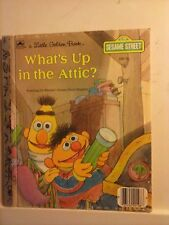 What's Up in the Attic - A Little Golden Book 1987 M Edition Hardcover GC