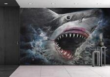 Wall26 - Painting 3D Sharks - Wall Mural Home Decor - 66x96 inches