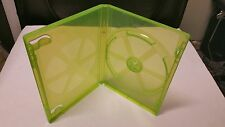 2 NEW OEM Official Microsoft Green SINGLE DVD CD Game Case for XBOX 360 w Sleeve