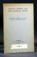 First Edition 1919 Aspects Aorists and The Classical Tripos Jane Harrison