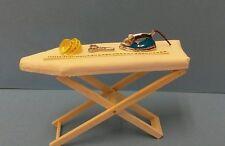 Dollhouse mini 1:12 ironing board, steam iron yard stick, tape measure, scissors