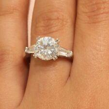 14K White Gold 2ct Diamond Round Brilliant Anniversary Engagement Ring Prong Set