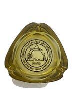 "Vintage Ashtray  Peter Alistos Specialty House San Francisco Gold Glass  3-1/2"""