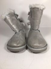 Sonoma Toddler Girls Size 6M Silver Boots