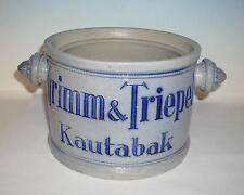 Grimm & Triepel Nordhausen Kautabak Topf Durchmesser ca. 17cm Höhe ca. 11,5cm