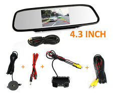"4.3""Reverse Display Car Rear View Mirror Monitor HD Backup Camera & Radar Sensor"