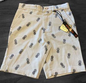 boys airwalk size 5 shorts pineapples White New
