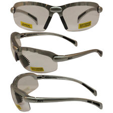 C2 Safety Shop Glasses with Silver Frame and Clear Lenses