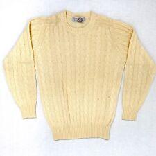 VINTAGE KAREN SCOTT 100% SHETLAND WOOL, s M, ivory color, cable pattern