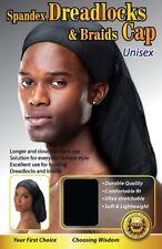 Black Spandex Dreadlocks Braids Cap Hat Hair Stretchable Gift Mens Women Unisex