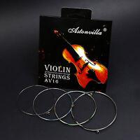2 Pack Silver Astonvilla Violin Strings Set, 4/4, Light Tension, A,G,D,E,AV16
