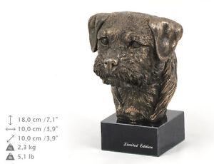 Border Terrier, Hundemarmorstatue Büste, ArtDog, DE