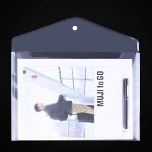A4 Folder 20Units Plastic Clear Dossiers Folder with Button to Document StoragGR